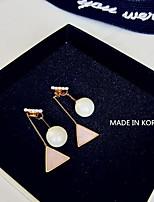 Boucle Forme Géométrique Boucles d'oreille goutte Bijoux 1 paire Mode Quotidien Alliage Femme Doré