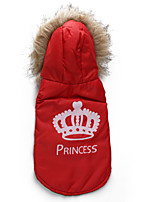 Katzen / Hunde Mäntel Rot / Orange Winter Tiaras & Kronen Modisch, Dog Clothes / Dog Clothing-DroolingDog