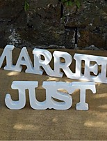 Wood Wedding Decorations-2Piece/Set Ornaments Wedding Rustic Theme Non-personalized Random Color