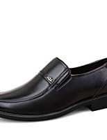 Men's Flats Spring / Fall Comfort Nappa Leather Office & Career Flat Heel Others / Slip-on Black / Brown Walking