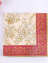 100% virgin pulp 20pcs Golden pattern  Wedding Napkins