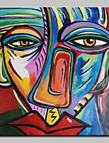 Handgeschilderde Beroemd / Mensen / Abstracte portretten Olie schilderijen,Klassiek Eén paneel Canvas Hang-geschilderd olieverfschilderij