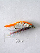 1pcs Hard Bait Orange 5 g/1/6 oz. Ounce,30 mm/1