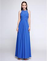 Lanting Bride®Ankle-length Chiffon Bridesmaid Dress - Elegant Sheath / Column Jewel with Criss Cross