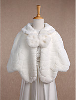 Kids' Wraps Capelets Sleeveless Faux Fur Ivory Wedding / Party/Evening / Casual Scoop 20cm Bow Hidden Clasp