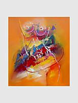 Pintada a mano Abstracto / Personas / Desnudo Pinturas de óleo,Modern Un Panel Lienzos Pintura al óleo pintada a colgar For Decoración