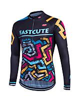 Deportes® Maillot de Ciclismo Mujer / Hombres / Niños / Unisex Mangas largasTranspirable / Secado rápido / Cremallera delantera /