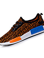 Черный / Синий / Оранжевый-Унисекс-На каждый день-Ткань-На плоской подошве-Удобная обувь-Кеды