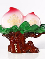 Chinese Peach Decorative Ornaments Incurs the Wealth Double Happiness Business Office Decoration