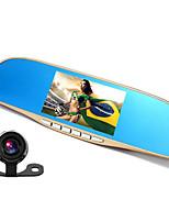 1080p двойной линзы зеркало заднего вида вождения рекордер 5-дюймовый большой экран вождения рекордер