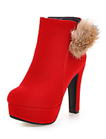 Women's Boots Spring / Fall / Winter Heels / Fashion Boots / Round Toe Leatherette Wedding /Casual Chunky Heel