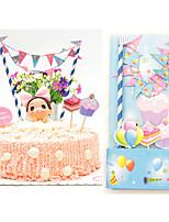 Tortenfiguren & Dekoration Nicht-personalisierte Herzen Kartonpapier Hochzeit / Geburtstag Blumen Rosa / Blau / Gelb Klassisches Thema 1