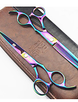 Rainbow Hair Cutting Scissors High Qualit Professional Barber Hairdressing Scissors