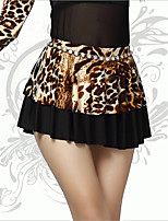 Belly Dance Bottoms Women's Performance Spandex Leopard 1 Piece Leopard Print Belly Dance Sleeveless Natural Skirt