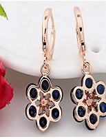 Earring Flower Drop Earrings Jewelry Women Fashion Daily / Casual Alloy 1pc Gold / Silver