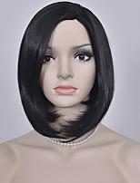 moda cor preta mulheres perucas curtas europeus e americanos retas perucas sintéticas