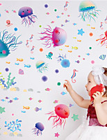 Waterproof Creative Cute Jellyfish Children's Bedroom Wall Stickers Fashion Wall Decals Home Decoration
