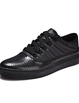 Herren-Sneaker-Lässig / Sportlich / Party & Festivität-Mikrofaser-Flacher Absatz-Komfort-Schwarz / Rot / Weiß