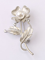 European and American fashion zircon Pearl Brooch Series 023
