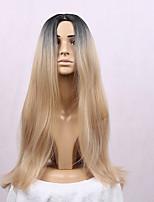 peluca sintética larga ombre pelo 1b / peluca de color rubio recta de las mujeres para las mujeres negras calentar la peluca cospaly
