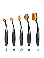 2016 Pro 5Pcs Toothbrush Shaped Eyebrow Foundation Power Face Eyeliner Lip Oval Cream Puff Brushes Makeup Beauty Tools