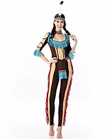 Cosplay Costumes Ethnic/Religious Movie Cosplay Purple Solid Top / Pants / Hat / Tie Halloween / Christmas / New Year Female Polyester