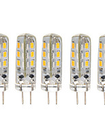 5 pcs 1.5W G4 24*3014SMD Warm/Cool White Color 360degree Chandelier light LED Bi-pin Lights 12V