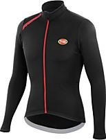 Deportes Bicicleta/Ciclismo Tops Hombres Mangas largasTranspirable / Cremallera delantera / Listo para vestir / Mantiene abrigado /