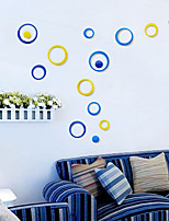5PCS Indoors Decoration Circles Stereo Removable 3D Art Wall Stickers Wall Sticker Decal