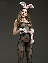 SKLV Women Nylon Cut Out Sheer Chemises & Gowns Lingerie/Ultra Sexy/Teddy Nightwear