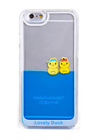 Funny Design Fluid Liquid Flowing Yellow Duck Crystal Clear Plastic Hard Case Cover for iPhone 5/5S