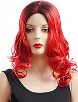 Hot Style 1b/red Color Long Wavy European Women Synthetic Wigs