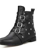 Women's Boots Spring / Fall / Winter Fashion Boots / Motorcycle Boots / Pointed Toe Leatherette Dress /  Buckle /