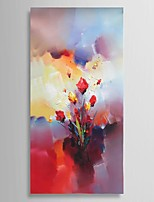 Ready to hang Stretched Frame Hand-Painted Knife Flower Oil Painting Canvas living room Study Decor Wall Art