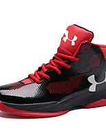 Zapatos Baloncesto Cuero de Napa Negro / Azul / Amarillo / Rojo Hombre
