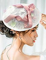 Femme Satin / Dentelle Casque-Mariage / Occasion spéciale Coiffure / Chapeau 1 Pièce Clair Irrégulier 18