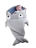 Kigurumi Pajamas Shark Leotard/Onesie Halloween Animal Sleepwear Red / Black / Gray Solid Cotton Kigurumi KidHalloween / Christmas /