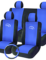 Universal Automobiles 9Pcs Interior Car Accessories Car Care Blue Set Seat Car Seat Covers for Car Styling