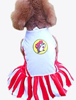 Lovely Cartoon Pattern Pet Dress