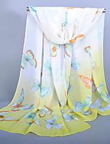 Women's Chiffon Butterfly Print ScarfGreen/Blue/Yellow/Pink/Watermelon