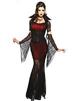 Costumes Vampire Halloween Rouge & noir Lace Elasthanne / Térylène Jupe / Manche / Ceinture / Collier