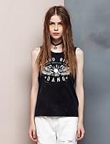 Heart Soul® Women's Round Neck Sleeveless T Shirt Black-24AD22818