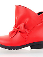 Women's Boots Spring / Fall / Winter Fashion Boots / Dress / Casual Low Heel Bowknot / Split JointBlack / Red /
