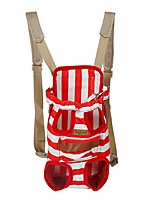 Red/Blue High Quality Stripe Shoulders & Backpack Pets Carrier Bag  for Pets Dogs and Cats