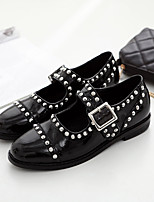 Women's Sandals Spring / Summer / Fall Sandals Patent Leather Casual Low Heel Beading Black Others