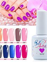 12 PCS/Set 2016 New Nail Gel Polish Soak Off UV Color Gel Polish Long-lasting Nail Gel Lacquer