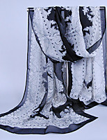 Women's Chiffon Totem Print Scarf,White/GrayRed/Black/Purple/Fuchsia/Blue/Green