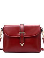 Women PU Casual Solid Color Belt Buckle Tongue Baguette Shopping Shoulder Key Holder Mobile Phone Bag