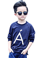 Boy's Casual/Daily Print Hoodie & Sweatshirt,Cotton Winter / Fall Blue / White