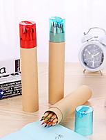 12 Multifunctional Student Wood Drawing Graffiti Color Pencils
